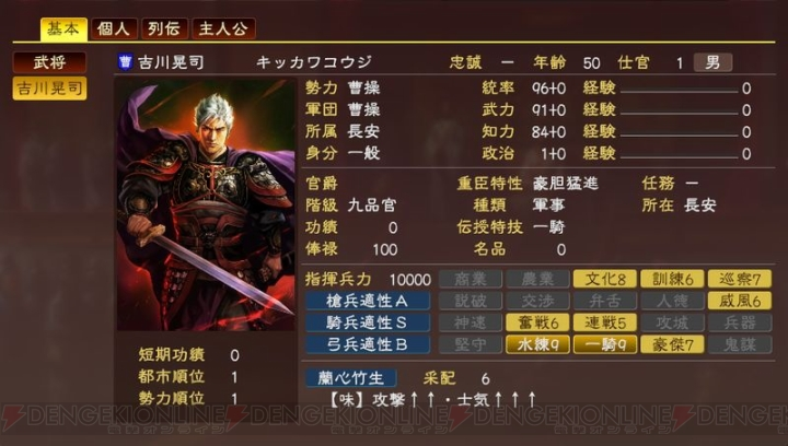 『三國志13』DLCで横山光輝氏の諸葛亮、オリジ... 電撃 - 『三國志13』DLCで横山光輝
