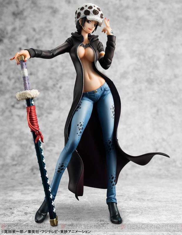 R O D Anime Characters : 電撃 『ワンピース』トラファルガー・ローの女体化フィギュアが登場。トレードマークの帽子や刀は健在
