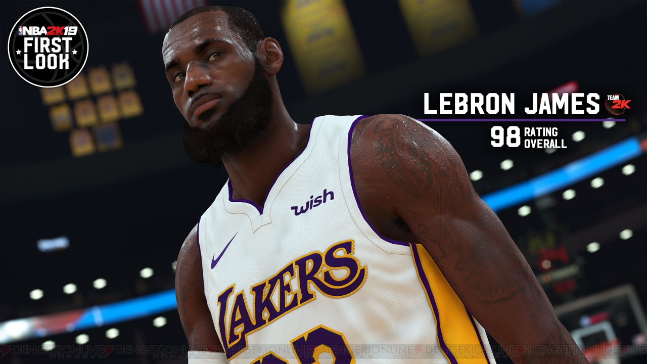 『NBA 2K19』レブロン・レイモン・ジェームズ選手やベン・シモンズ選手らのゲーム内画像が到着