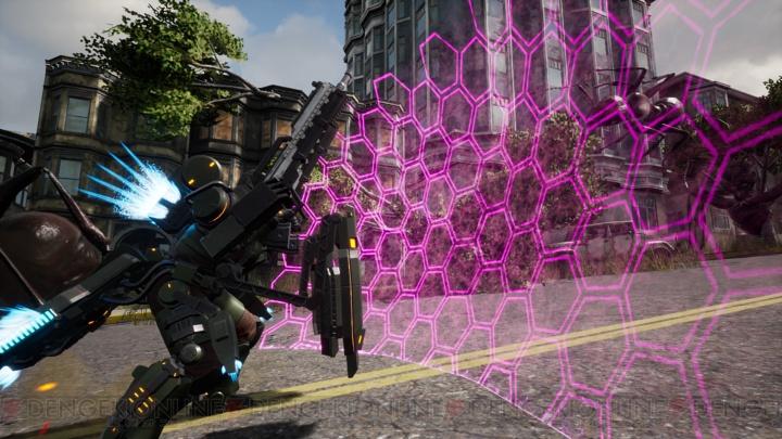 """『EDF: アイアンレイン』巨大生物・ベイザルに挑む! 新型""""PAギア""""を使った感触をチェック【TGS2018】"""