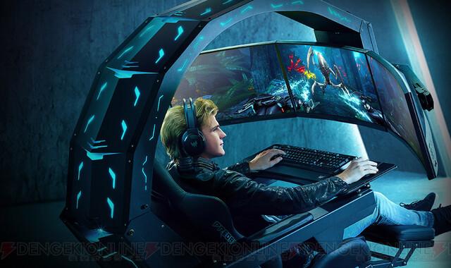 350万円で買える近未来。圧倒的没入感を味わえるPC付きゲーミングチェア『Predator Thronos』発売