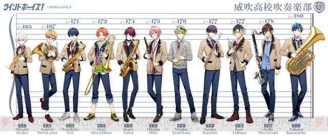 『ウインドボーイズ!』吹部男子たちの担当楽器&体格差を、身長対比表でチェック!