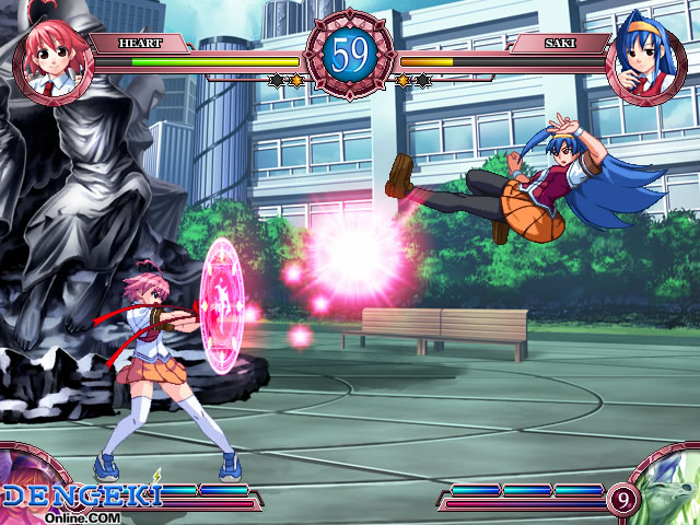 An Anime Esque 2D Fighting Game Where All The Characters You Fight As Are Girls That Range From Age Of Looks It 10 15
