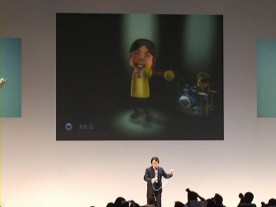 ■宮本氏による『Wii Music』デモンストレーション